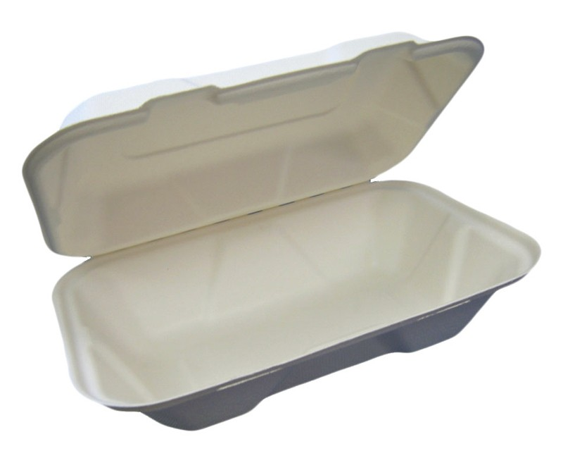 HP-BAG-9CLM6-C 6x9x3 HYPAX  BAGASSE CLAMSHELL 200/CASE