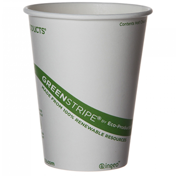 EPBHC12GSCN 12 oz GREENSTRIPE HOT CUPS 1000 CASE