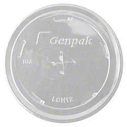 12CL TRANSLUCENT STRAW LID 1000/CASE  FITS 12CD